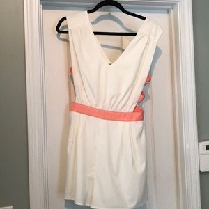 Other - Cream and pink romper